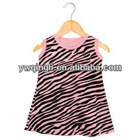 Lovely Baby Summer Clothes 2014 Newest Kids Zebra Fabric Cotton Petti Dresses For Girls Wholesale