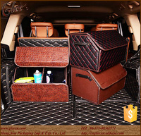 First quality car folded storage box leather