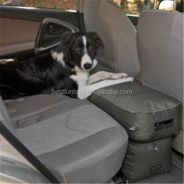druable fabric inflatable claw resistant dog car seat folding portable blow up car backseat space filler auto extender for pets