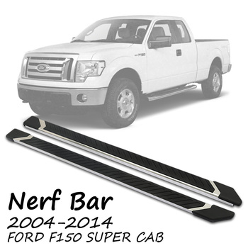 FIT 04-14 F150 SUPER CAB OE SIDE STEP NERF BAR RUNNING BOARD STAINLESS STEEL NF 4.5 ""