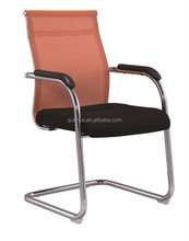 Curve type beauty orange cosy mesh office chairs