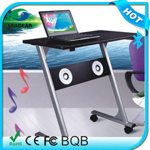 Stable movable wireless bluetooth speaker with learning table