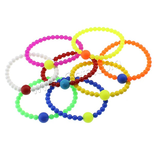 personalized mixed colors cheap jewelry silicone bead bracelets