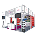 Detian do portable aluminum expo stand show exhibition booth design 20x20 and manufacture