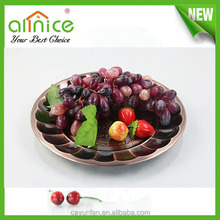 High quality stainless steel round serving tray decorative