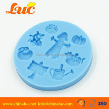 Lsm105 Cake Decorating Supplies Silicone Mould Making Supplies Halloween Pumpkin Mold