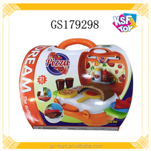 Children Pretend Play Toy Plastic Food Set Toy Pizza Play Kit