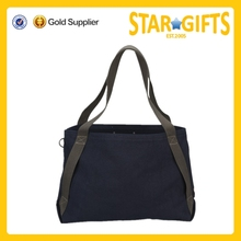 Alibaba China Top Selling Heavy Black Canvas Shoulder Bag For Shopping And Promotion
