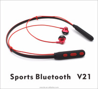 Private label wholesale price 2017 magnetic headphones neckband bluetooth earphone headphones for sport