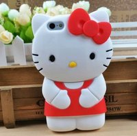 2014 cute hello kitty Silicone case for iphone 5