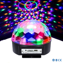 led crystal magic ball light with music palyer function