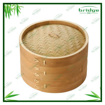 2 Tier natural bamboo steamer