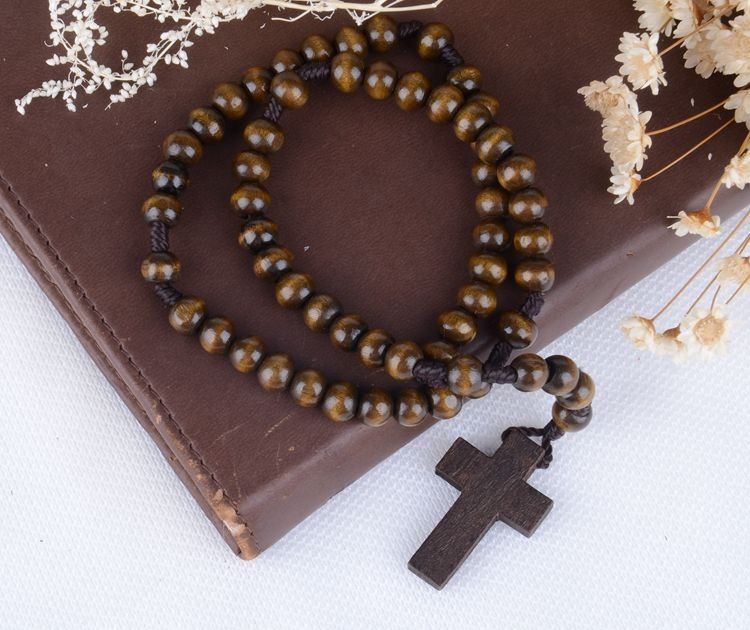 A&J No Complaint wholesale cheap wood rosaries rosary