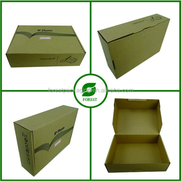 FOLDABLE CORRUGATED BIN BOXES FOR IP PHONE