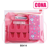 High quality professional fashion style manicure set pedicure set for girls B5414
