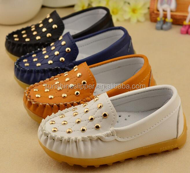 New design fashion dress baby leather boys flat casual shoes