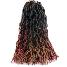 18inch 100 grams 24 strands ombre black brown blonde color synthetic crochet wavy faux locs