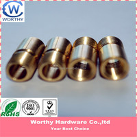 high precious metal material parts machining service fittings