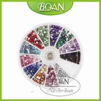 BQAN 12 Colors Decorated French Nail Tips Nail Art Decoration In Heart Shape