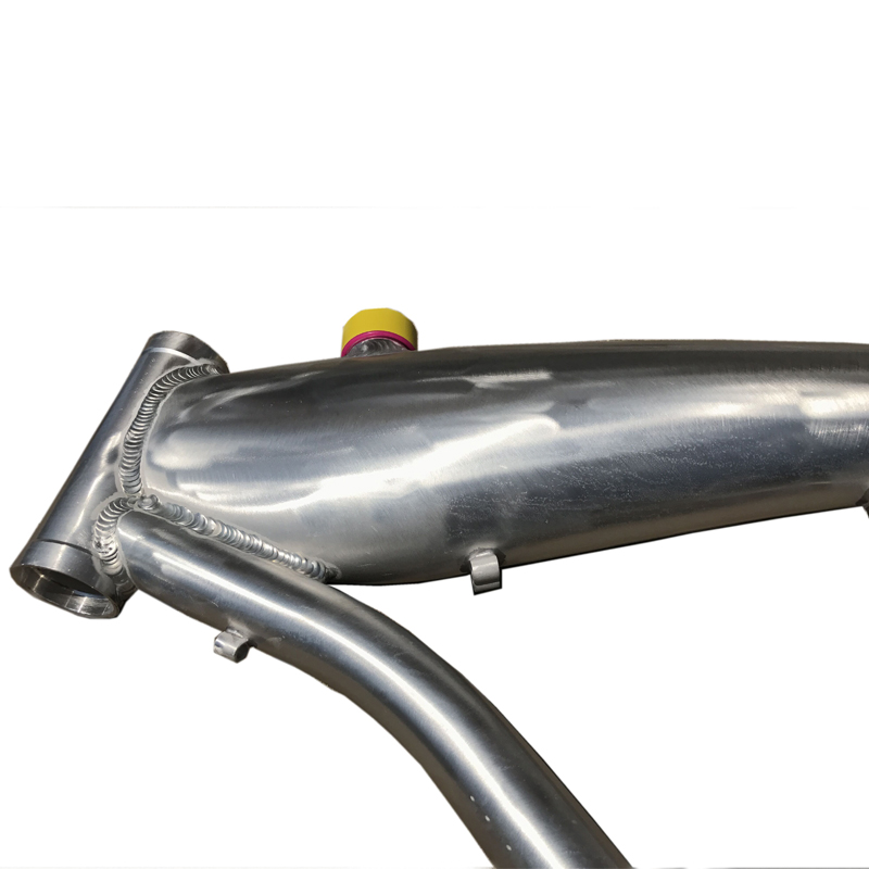 motorized bicycle frame with 2.4L gas tank built in
