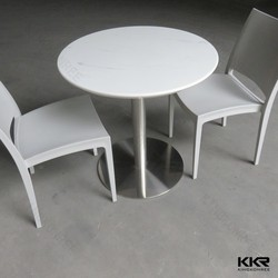 customized stone table top with stainless steel leg