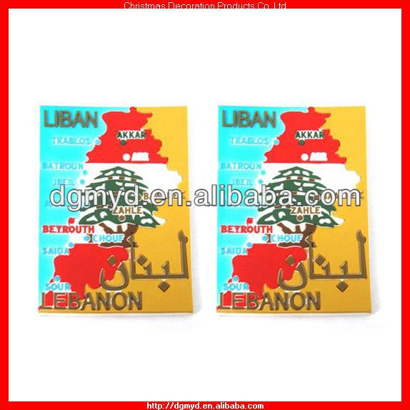 Liban map 3d fridge magnet for travel souvenir (MYD-1040)