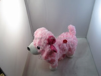 LYJB-110 musical singing walking plush pink animal toy puppy