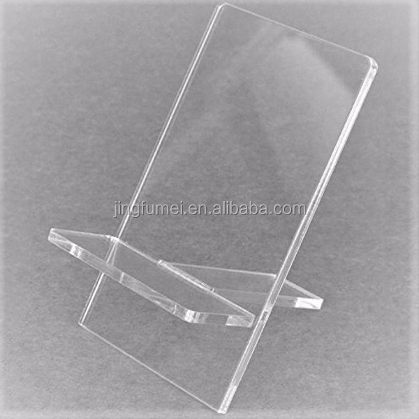 Customized Acrylic Triangular Prism Menu Stand Table Top Card Holder Acrylic Display For Restaurant