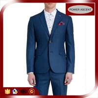 Wholesale Customized Two-button Fashion Mens Navy Blue 2Piece Suit