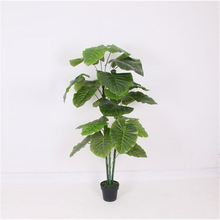 Factory sale special design lively outdoor artificial taro tree plastic flowers