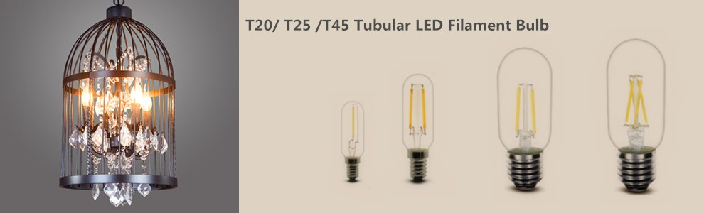 2W 2200K 2700K 4000K 6000K 200lm Dimmable T45 T14 led filament lamp
