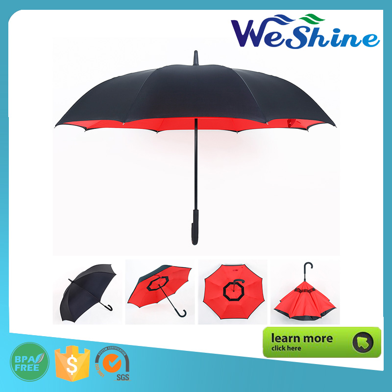 High Quality Double Layer Waterproof Upside-down Inverted Umbrella
