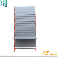 floor retail metal slatwall panels heavy duty engine oil accessories display stand HSX-S0276