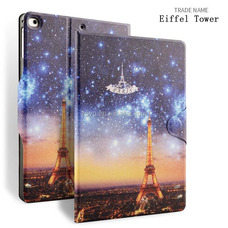 Eiffel tower case with magnet buckle for ipad air 1 2