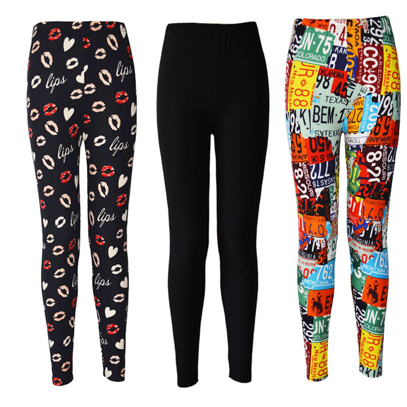 Custom Legging for Women 92%polyester 8%spandex Brushed Wholesale Printed Leggings