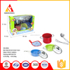 Stainless steel kids cooking play set kitchen toy