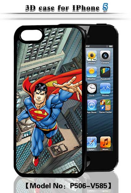 3D Flash Case for iPhone 5/ 5G/ 5S with Flash Images - Superman-V585