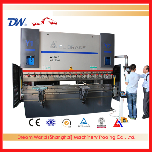 WE67K Series CNC hydraulic plate bending machine with durable and reliable import grating ruler