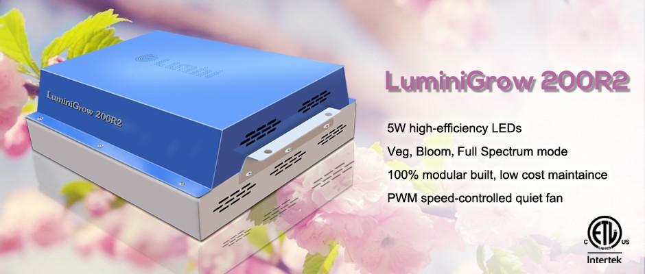 best cheap etl certified luminigrow 200r2 full spectrum. Black Bedroom Furniture Sets. Home Design Ideas