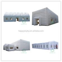 High quality!!!Large advertising inflatable cube tent,white air tent for party events