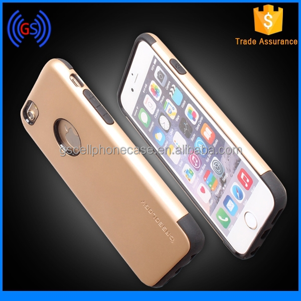 New Arrival Latest Popular Mobile Phone Case Cover,2 In 1 TPU Plastic Hard Back Case Cover For Iphone 6 Plus