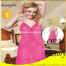 Chinese wholesale soft mature babydoll lingerie 2012