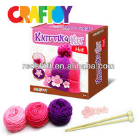 DIY kit toy Educational toy Design your own Knitting hat