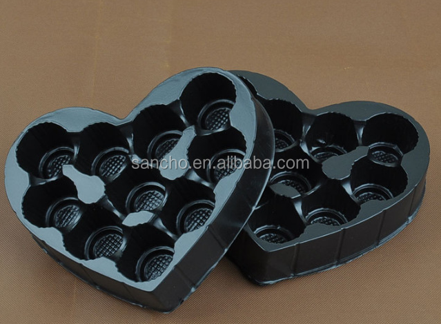 Custom plastic packaging chocolate blister tray