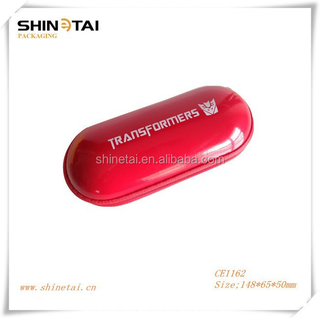 Mini PU Leather Custom Printing Logo EVA Sunglasses Cases