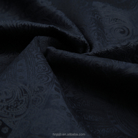 Black colour flower embossed fabric for dress,sofa,garment