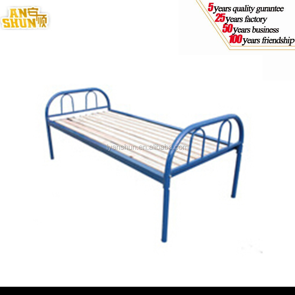 2016 best selling space-saving lightweight single adult metal bed
