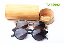 China manufacturer acetate sunglasses handcrafted wood imitate frames and temples with laser logo