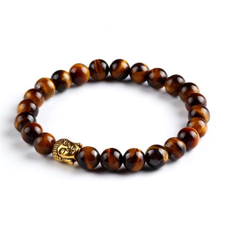 buyers for costume jewelry sport brown lava stone agate golden buddha beaded bracelets