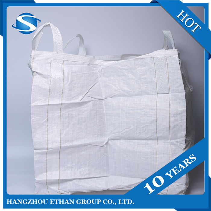 1.5 ton Virgin PP FIBC Big Jumbo Bag FIBC Container Sand Bitumen Flour Firewood Builder white Bag For Packing used 1Ton virgin